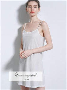 Women Mini Slip Dress Rayon Camisole SUN-IMPERIAL United States