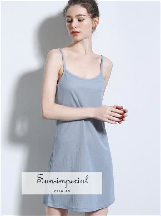 Women Mini Slip Dress Rayon Camisole Dress SUN-IMPERIAL United States
