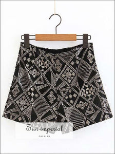 Women new Diamond Sequined Shorts Velvet Plaid Ladies Shorts