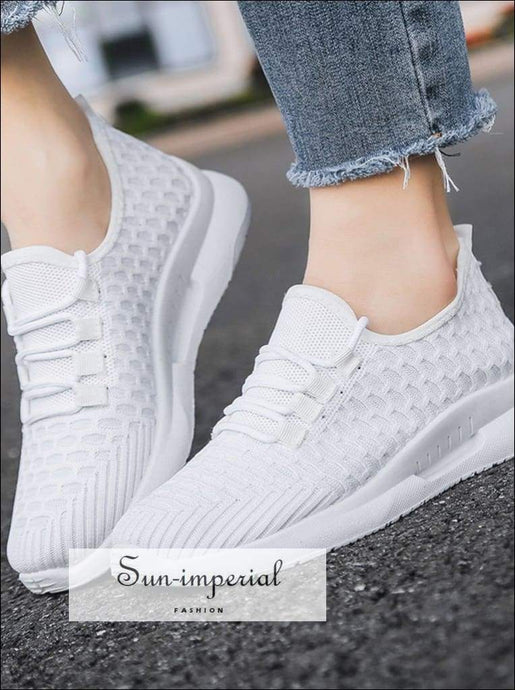 Women Outdoor Sports Shoes Running Mesh Breathable Lightweight Sneakers Casual Cushioning Lace SUN-IMPERIAL United States