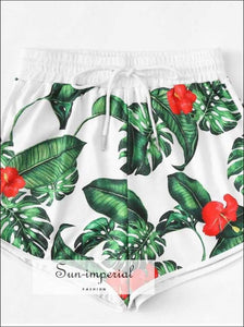 Women Print Loose Hot Pants Summer Beach Shorts