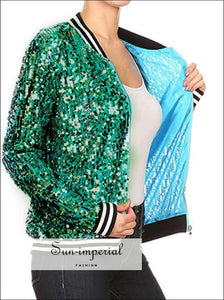 Women Sequined Casual Sports Jacket Coat Running Training plus Size Simple Long Sleeve Ladies Sports