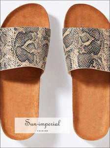 Women Summer Beach Sandals Flats Casual Shoes Woman Slides Slippers Outdoor Cork Sandalias - Shimmer SUN-IMPERIAL United States