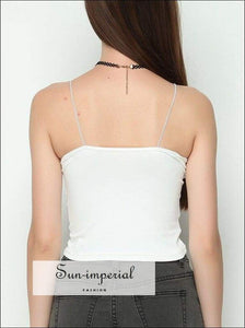 Women Vintage Crop Tops Cami Strap Basic Tank top BASIC SUN-IMPERIAL United States