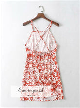 women vintage floral r backless sleeveless beach dress boho SUN-IMPERIAL United States