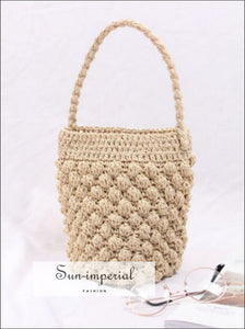 Women Vintage Woven Basket Bag SUN-IMPERIAL United States