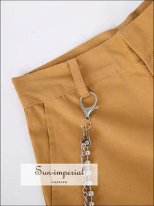 Women Wide Leg Belted Pants