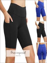 Women Workout Out high waist shorts Pocket Leggings SUN-IMPERIAL United States
