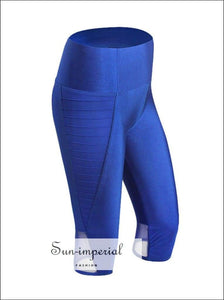 Women Yoga Elastic Sports Pants Mid-section Breathable Fitness Running Ladies Plus Size SUN-IMPERIAL United States