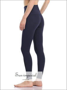 Women Yoga Pants Breathable Fitness Running Elastic Sports Pant Solid Color Ladies plus Size High SUN-IMPERIAL United States
