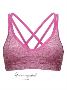 Women's Fashion Vest with Chest Pad Sports Underwear without Steel Ring Comfortable Breathable SUN-IMPERIAL United States