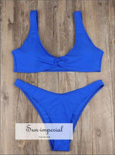 Women's Swimsuit Bikini Set of Two-piece Beach Push up Vintage Female SUN-IMPERIAL United States