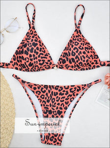 Women's Two Piece pink leopard bikini SUN-IMPERIAL United States