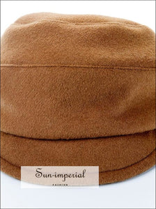 Wool Blended Military Hat Women Visor Hats SUN-IMPERIAL United States