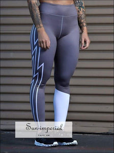 Yoga Leggings Women High Waist Push up Lightning Printing plus Size Running Pants Elastic Ladies