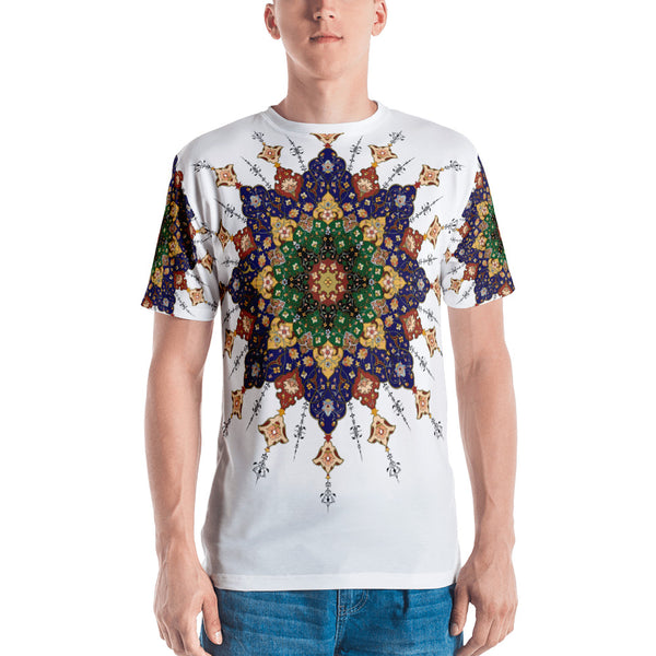 Simple Men's Pattern Print T-shirt