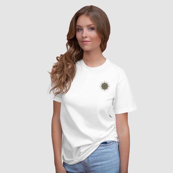 Simple Embroidered Pattern T-Shirt