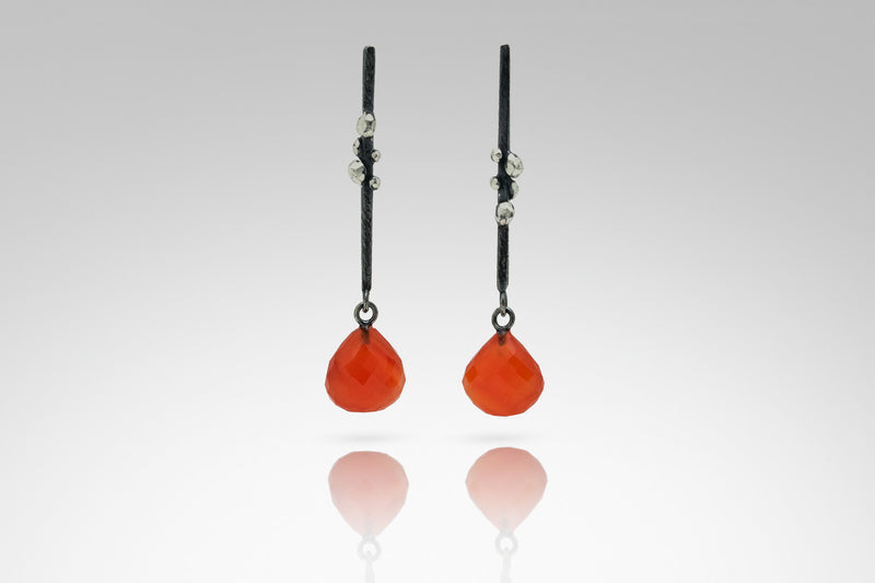 Facet Drop Earring with Stone