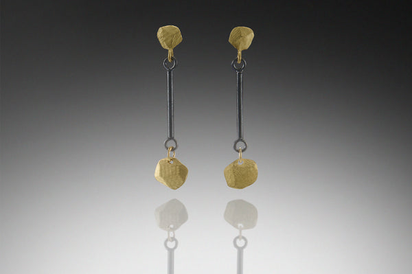 Facet Top And Bottom Drop Earring
