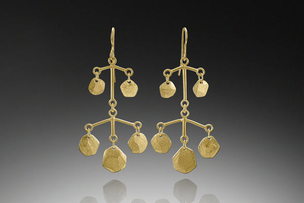 Five Facet Multi Tier Earring