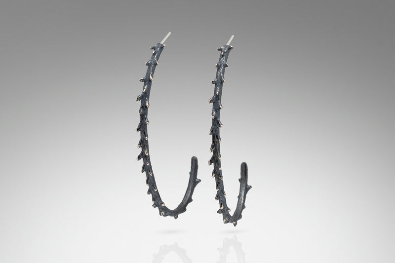 Long Spiky Hoop Earring