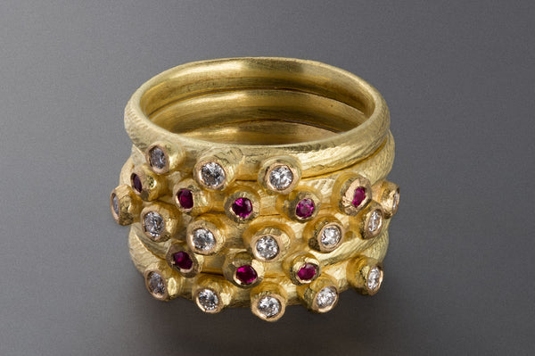 Barnacle Ring with 3 Stones