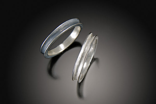 Single Row Column Ring, Silver