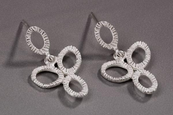 Small Dangle Four Ring Earring