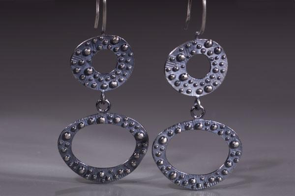 Bumpy Two Tier Earring