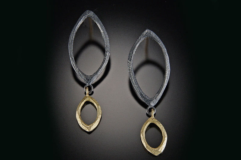 Two Faceted Link Dangle Earring
