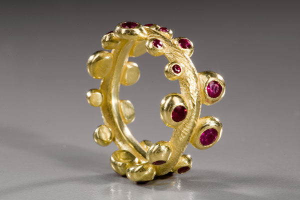 Seaweed Ring with Rubies