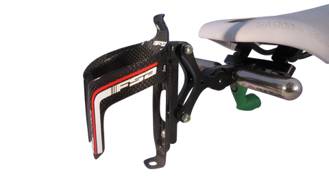 Single Behind Saddle Aero Bottle Rack (Carbon Cage)