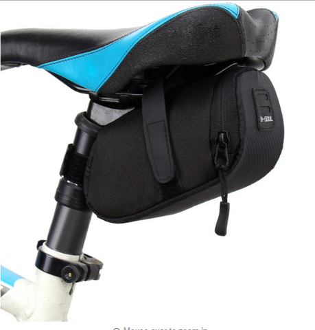 Behind Saddle Bag