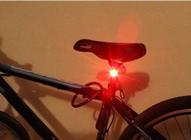 Bright Red LED Bicycle Light