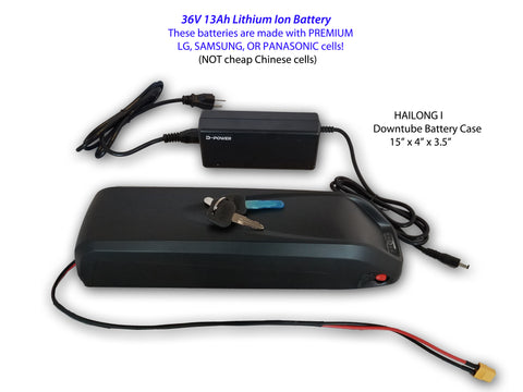 Premium Lithium Ion E-Bike Battery 36V  13Ah