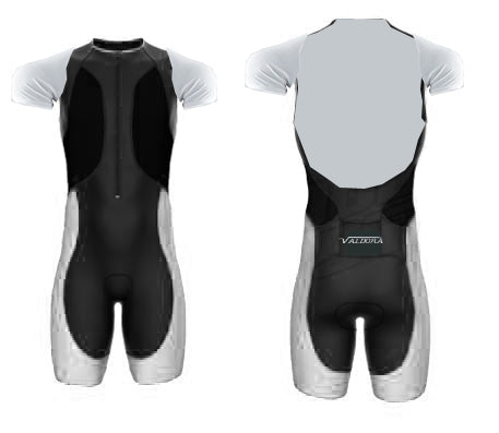 Long Course Short Sleeve Triathlon Suit  by VALDORA