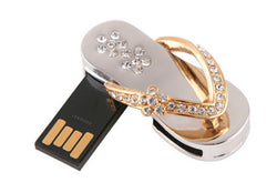 Cute Crystal Slipper USB Flash Drive