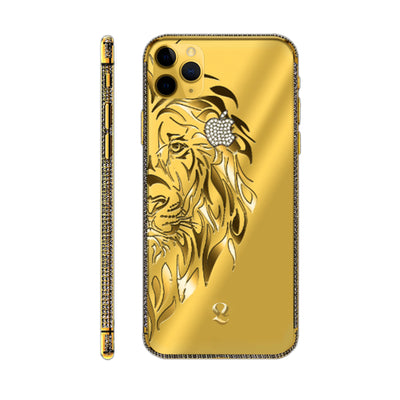 24k Gold Lion Swarovski Brilliance iPhone 11 Pro and iPhone 11 Pro Max