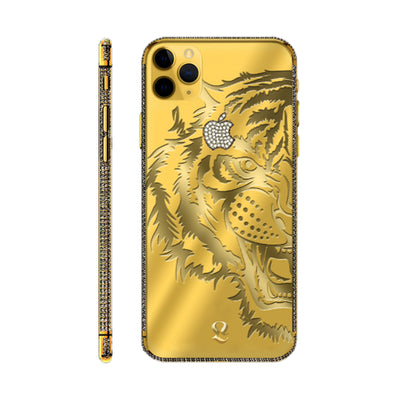 24k Gold Tiger Swarovski Brilliance iPhone 11 Pro and iPhone 11 Pro Max