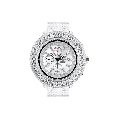 Leronza Breitling Super Avenger Stainless Steel 35ct Diamond Watch