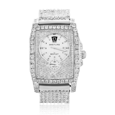 Leronza Breitling For Bentley Special Edition Stainless Steel 36ct Diamond Watch