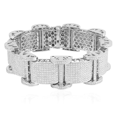 Leronza 10k White Gold 19.5ct Diamond Bracelet