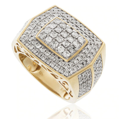 Leronza 10k Yellow Gold 2.32ct Men's Diamond Ring