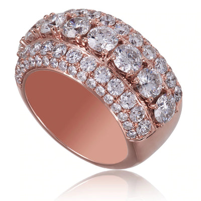 Leronza 14K Rose Gold 6.78ct Diamond Ring