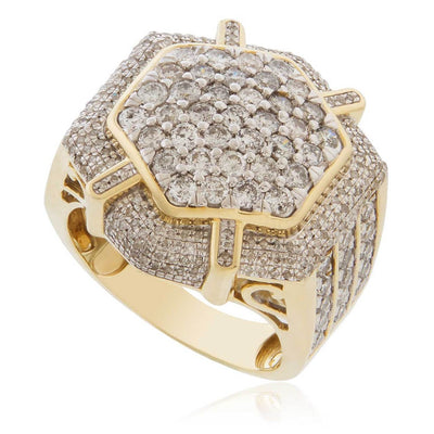 Leronza 10k Yellow Gold 3.04ct Diamond Ring