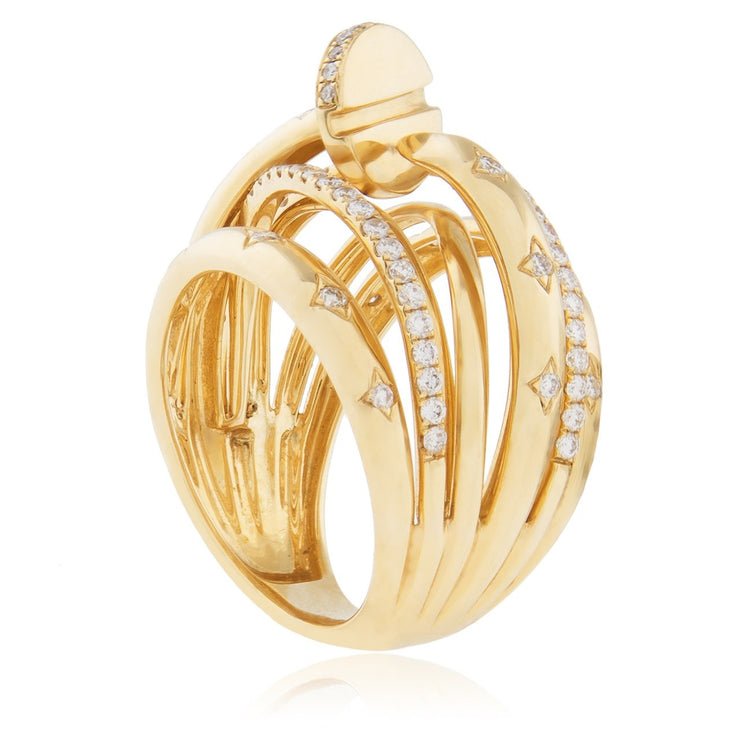 Leronza 18K Yellow Gold .74ct Diamond Ring
