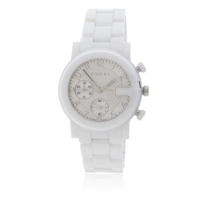 Leronza Gucci White Ceramic  Womens Watch