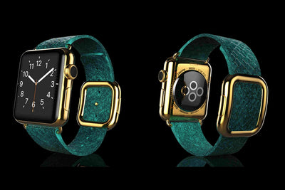 Leronza Luxury 24K Gold Apple Watch 4 Elite Exotic