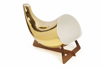 Leronza Luxury 24K Gold Megaphone iPhone Speaker