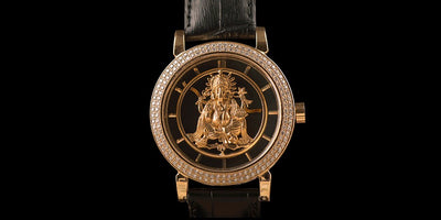 Leronza Luxury Solid Gold watch
